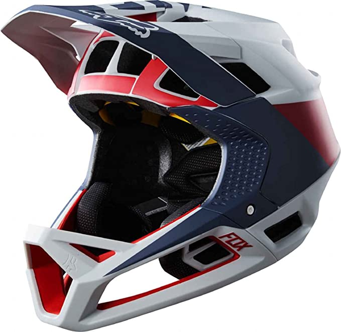 Fox Downhill - Casco para bicicleta de montaña proframe Drafter - Cloud Grey: Amazon.es: Coche y moto