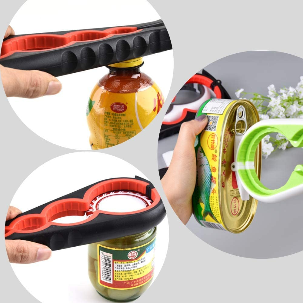 6 in 1 Multi-function Bottle Opener Kitchen /& Dining Jar Can Cap Lid Opener Hot