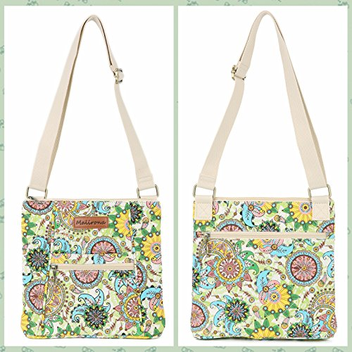 Malirona Women Crossbody Purse Hipster Cross Body Bag Canvas Shoulder Handbag Floral Design by Malirona (Image #3)