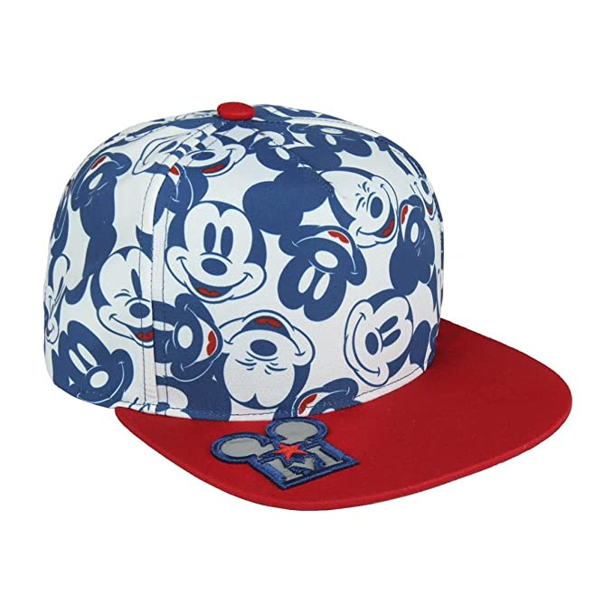 17bc42174c Disney Topolino 2200002890 Cappello Snapback Visiera, Cotone, Multicolore