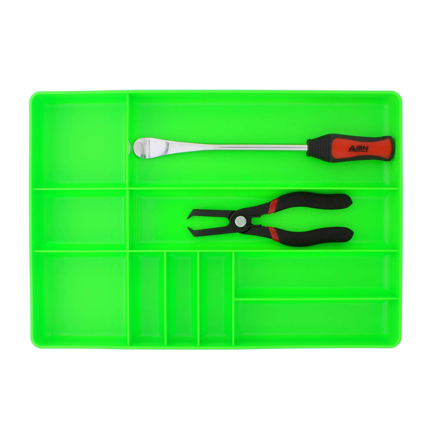 ABN | Toolbox Drawer Organizer Tool Organizer Tool Tray - Tool Drawer Organizer Sorting Tray, 16x11x1.5'' Inch in Green by ABN (Image #3)