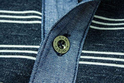 Kam Herren Poloshirt blau blau