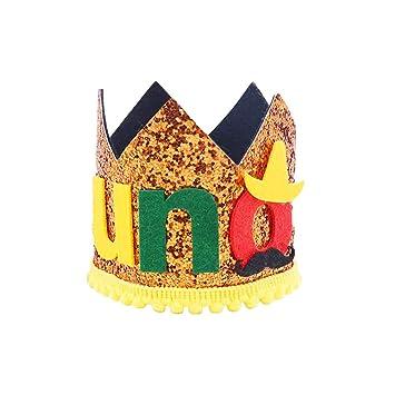 Amosfun Fiesta Mexicana UNO Cumpleaños Corona Sombrero ...