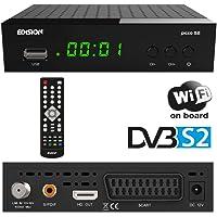 Edision Picco S2- Receptor de satélite Full HD, WiFi, HDMI, SCART, Receptor de IR