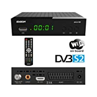 Edision Picco S2Full HD Receptor de Satélite (1x DVB-S2, WiFi, USB, HDMI, SCART, S/PDIF, IR Ojo, Lector de Tarjetas), Color Negro