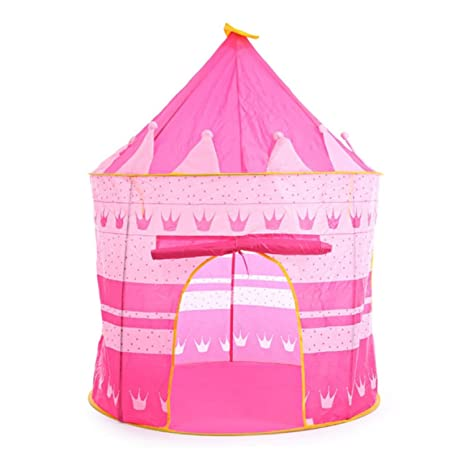 39e5ef6b8 Image Unavailable. Image not available for. Color  Play Tent Portable  Foldable Tipi Prince Folding Tent Children Boy Castle Cubby Play House Kids  Gifts