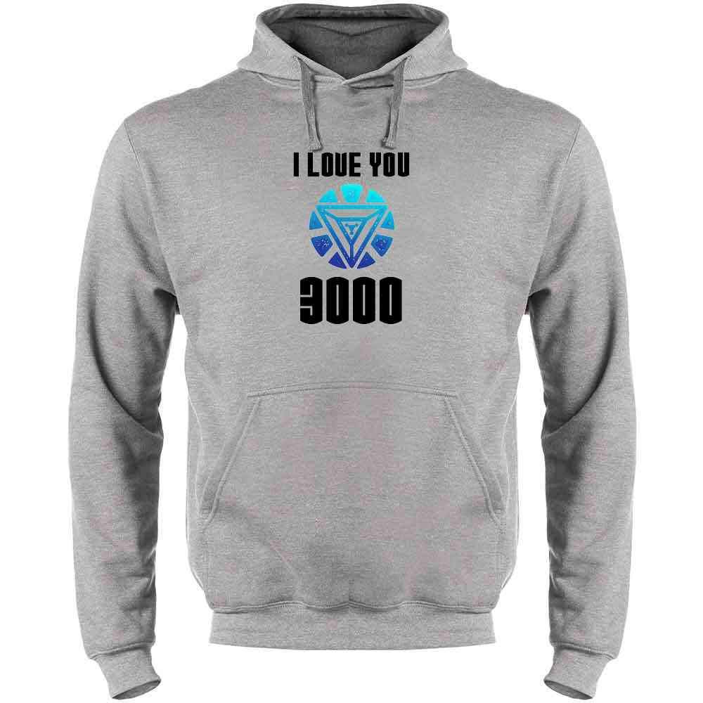 Raglan Fleece Hoodie I Love You 3000 Fathers Day Superhero Tee Shirt Tank Top Long Sleeve