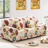 yazi Sunflower Washable Elastic Sofa SlipCover 3-Seater Couch Stretch Settee Slipcover ( Three-seater + Pillowcase)