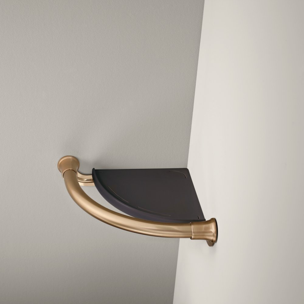 Delta Faucet 41416-CZ Transitional Corner Shelf/Assist Bar, Champagne Bronze