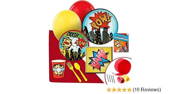 BirthdayExpress Superhero Comics Party Supplies Value Party Pack Birthday Express AX-AY-ABHI-64171