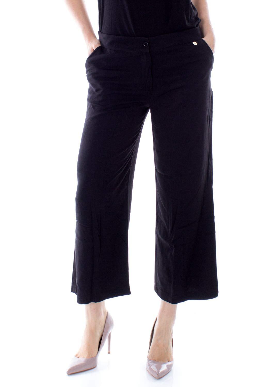 Akè Women's F646XAHP5674BLACK Black Viscose Pants