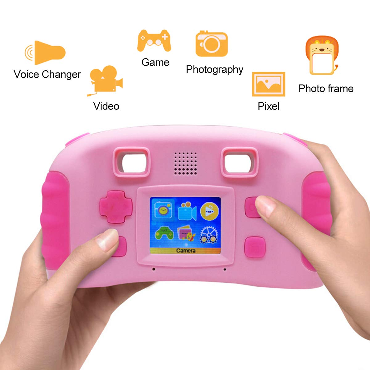 bouti1583 Digital Photo Video Cameras with Games 1.77'' LED Screen for Kids Toy by bouti1583 (Image #3)