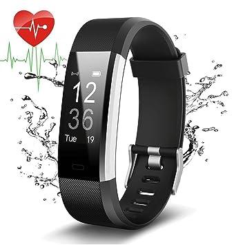 YFish Pulsera Inteligente de Actividad con Pantalla Táctil Reloj Deportivo Fitness Registrar Ritmo Cardíaco Compatible con Móvil IOS y Android Brazalete ...