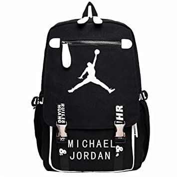 a8acd75add1f Kayisamo Michael Jordan Cosplay Basketball Fans Luminous Backpack School Bag   Amazon.co.uk  Computers   Accessories