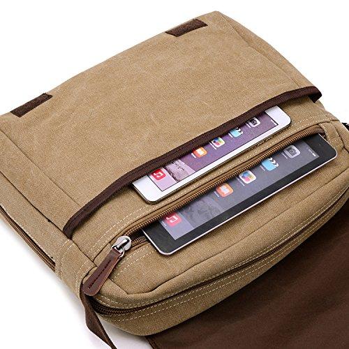 Young & Ming - Hombre Men lona Bolso maletín bandolera Bolso bolsos Handbag Messenger bolsa la computadora oficina Negro
