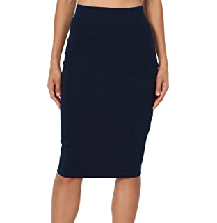 Vococal Falda de Cintura Alta / Bodycon de Delgada Cadera / Falda ...