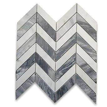 Amazon.com: Carrara blanco y bardiglio gris mármol italiano ...