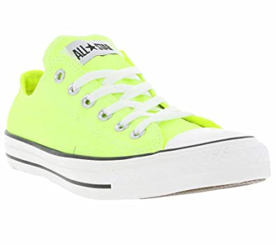 3757d545e33 Converse Chuck Taylor OX Neon Mesdames Sneaker 136585C Jaune