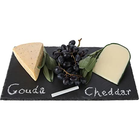 lilyu0027s home rustic slate cheese board cheese tray with chalk 16 x 8