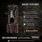 TITAN Paracord Survival Bracelet   Bronze   Large