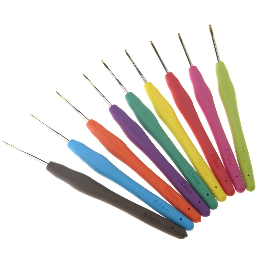 エマ9のアルミニウムかぎ針編みは0.5mm-2.5mmセットを編む針を引っ掛けます B073WWMPX6