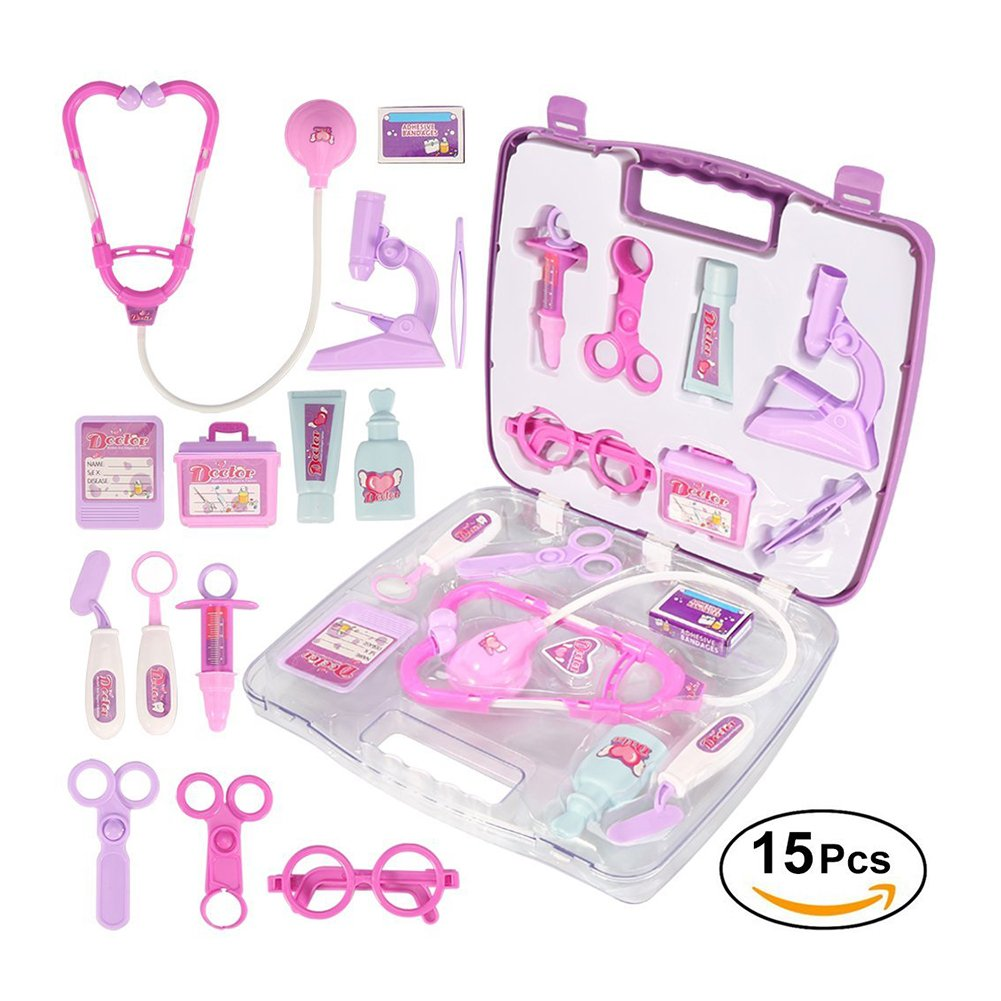 YOSOO(TM) Rollplay Games Pretended Doctor's Nurse Medical Carry Case Kit Roll Play Set Kids Toy Gift