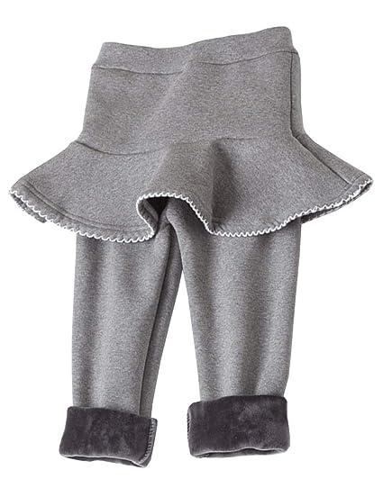 Leggings Niña Invierno con Falda Forrado Cálido Pantalones de ...