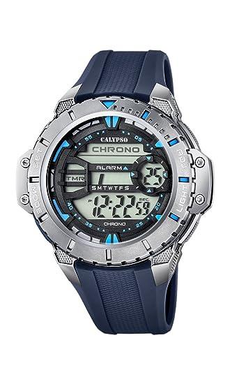 Calypso Watches Reloj Digital para Hombre de Cuarzo con Correa en Caucho K5689_4: Amazon.es: Relojes