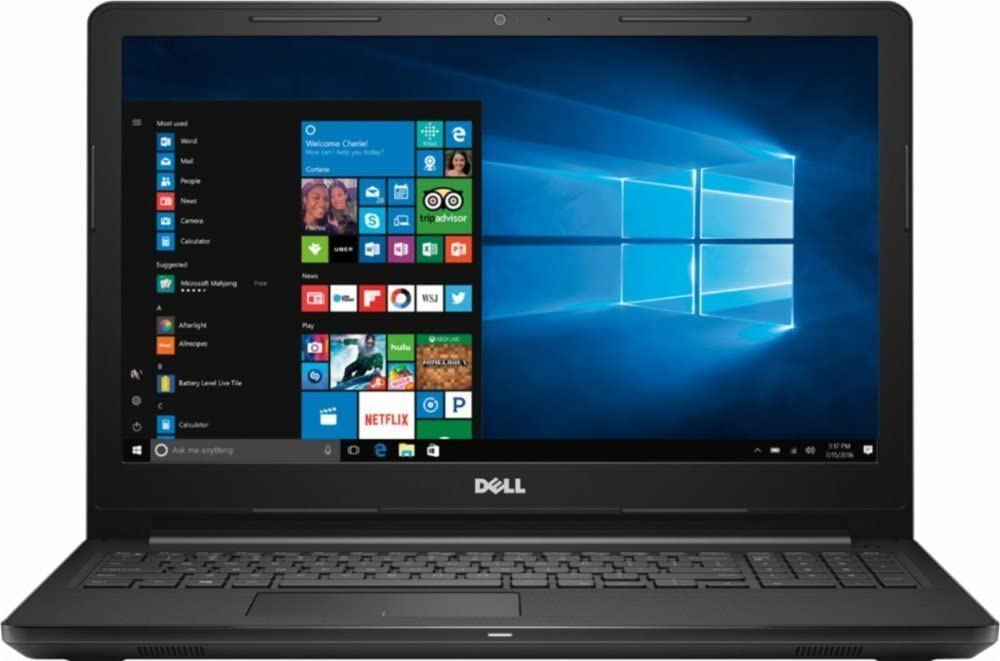"2018 Dell Inspiron 15 3000 3565 15.6"" HD WLED Laptop Computer, AMD A6-9200 up to 2.8GHz, 8GB DDR4 RAM, 256GB SSD, USB 3.0, HDMI, DVD-RW, MaxxAudio, Stereo speakers, Windows 10"