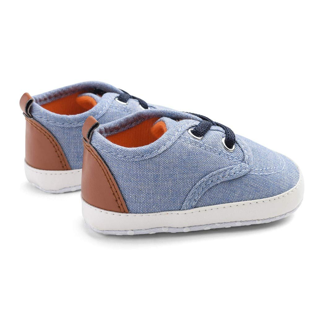 Voberry Newborn Baby Soft Sole Shoes Candy Color Sewing Anti-Slip First Walkers Shoes