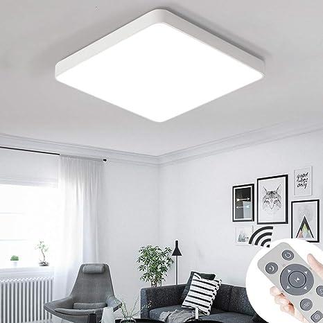 COOSNUG 36W LED Luz de techo Regulable Cuadrado blanco Lámpara de techo moderna Pasillo Sala de estar Lámpara Dormitorio Cocina Ahorro de energía ...
