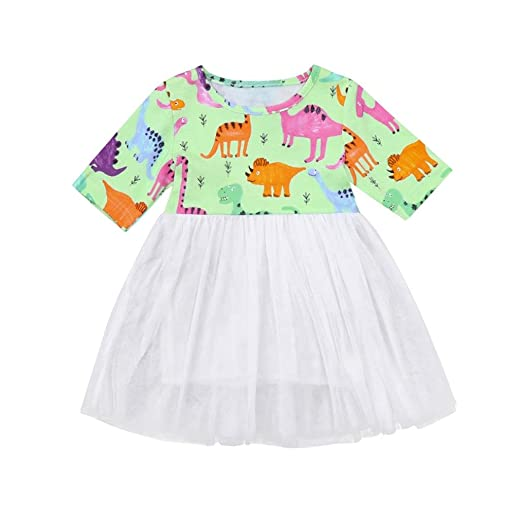 dc9f67d43 Amazon.com  Kehen Kid Toddler Baby Girl Summer Dress Party Clothes ...