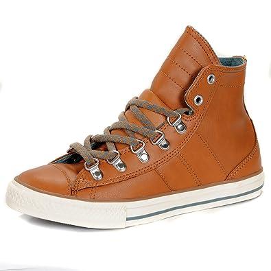 8ebeeb76d8fa Converse Chuck Taylor Hi Sneaker Boot Trainers - Wheat Brown-UK5.5 ...