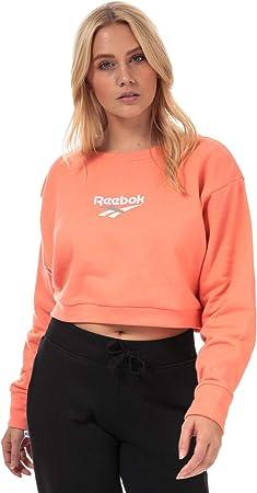 Reebok Classics Vector Crew - Sudadera para Mujer, Color Rosa