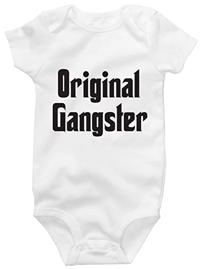 75b2c59501c Original Gangster Cute Onesie Adorable Funny Baby Bodysuit (3 months)