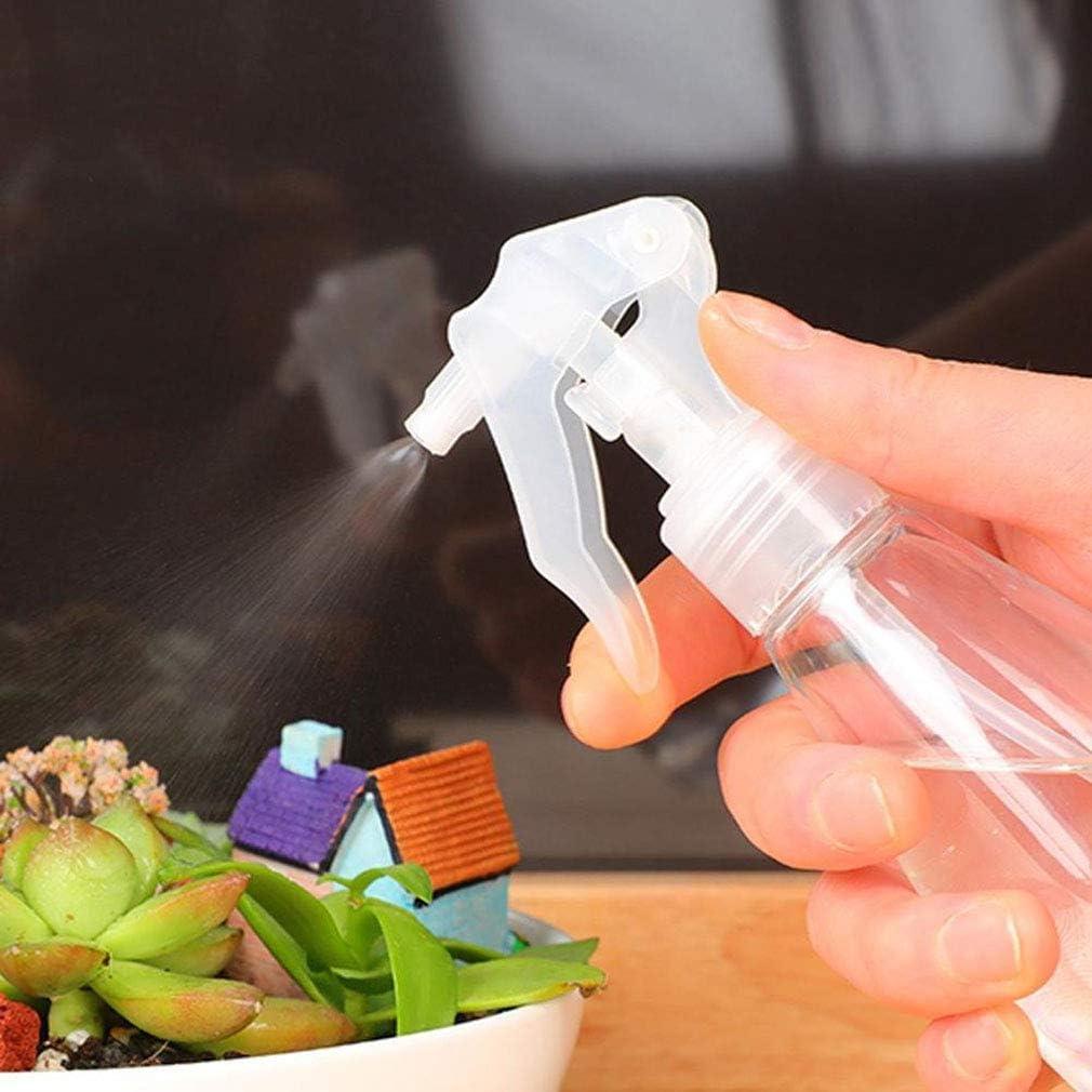 Brilaris Spray Bottles, 2 Pack Plastic Mist Empty Bottles Transparent Non-Toxic Odorless Sprayer Leak-Proof Bottles Trigger Sprayer for Cleaning Gardening Feeding 200 ml 1p