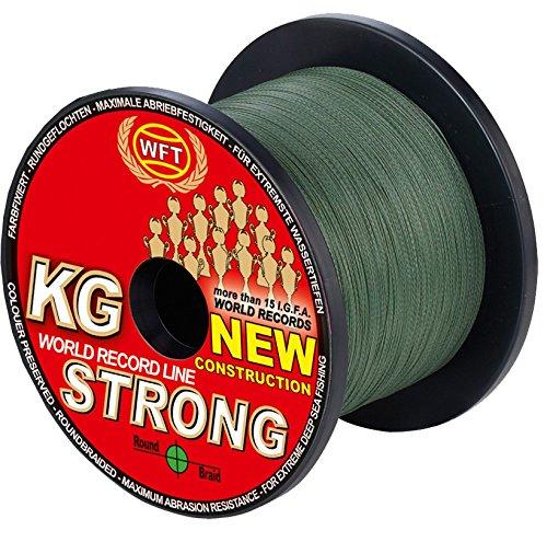 WFT KG Strong 600m 0,08mm 10kg Geflochtene Schnur Geflechtschnur Angelschnur Meeresschnur