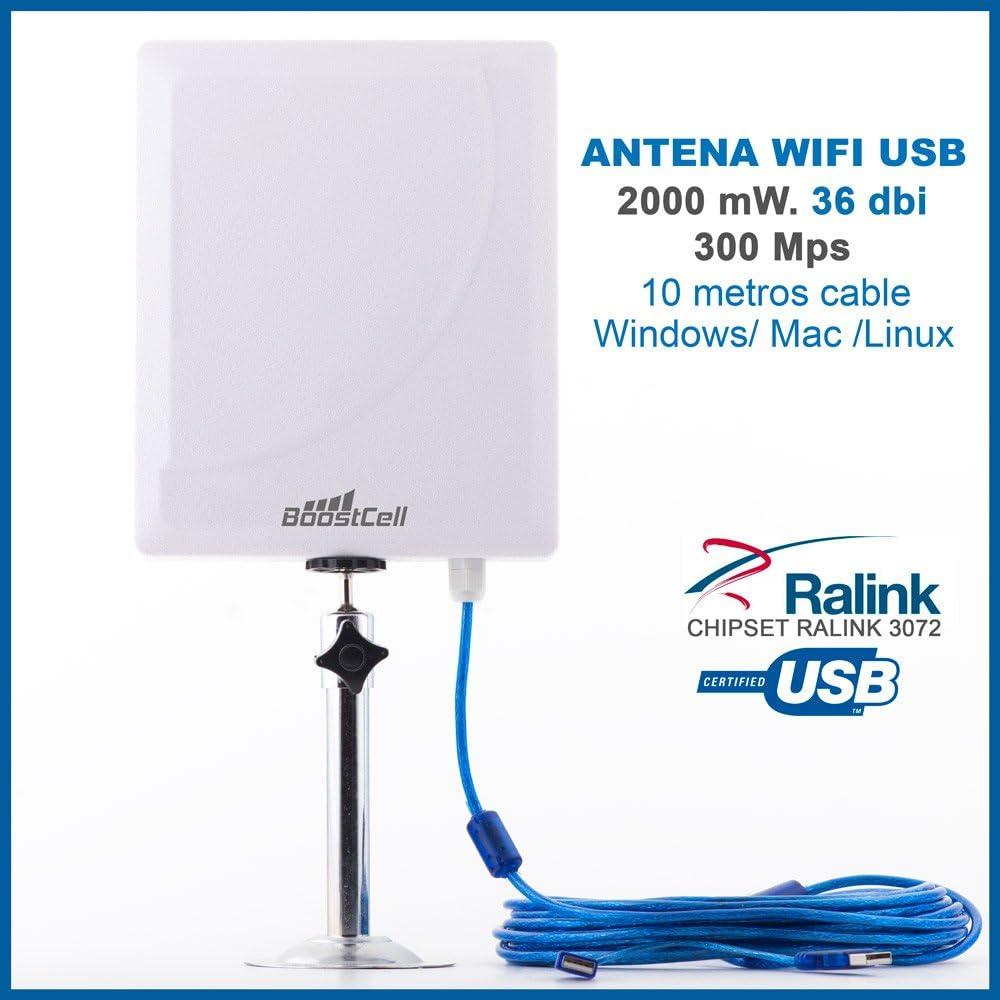 BOOSTCELL Antena WiFi USB DE Largo Alcance (36 DBI): Amazon.es ...