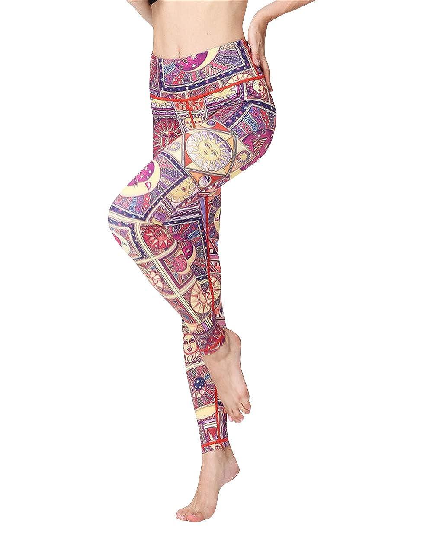 MISSMAO/_FASHION2019 Leggings Sportivi Donna,Leggings con tasche laterali,Maglia Eleganti Leggings Sport,Allenamento Opaco Yoga Fitness