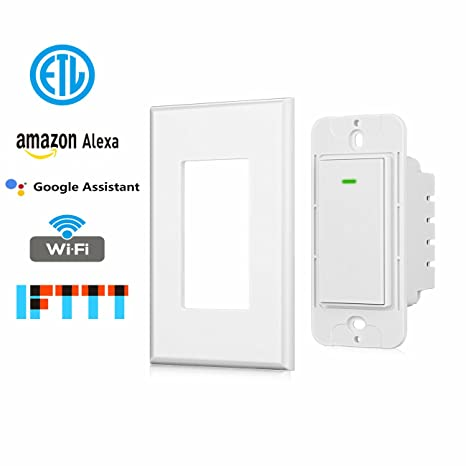 Wifi Light Switch,Alexa light Switch,Timing function, Neutral Wire ...