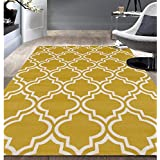 Modern Moroccan Trellis Yellow Area Rug (5 x7 )