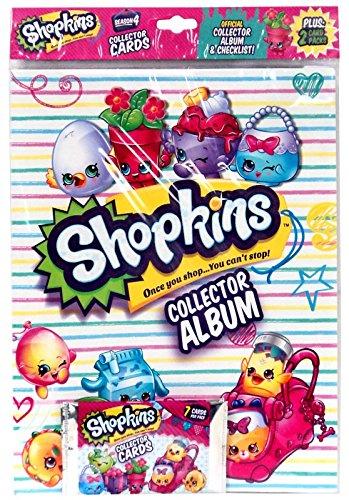 Shopkins OFFICIAL Collector Album SEASON 4 PLUS:2 Card Packs Bulls i Toy