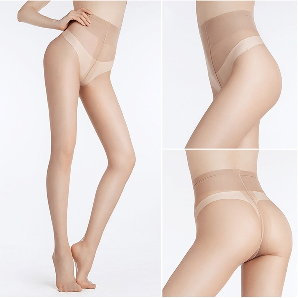 005bc59fe78ea Socks Stockings 5 Loaded Stockings 12D Ultra-Thin Invisible Pantyhose Spring  and Summer Sexy Thin Bottoming Stockings (Color : Brown, Size : 5 Pairs):  ...