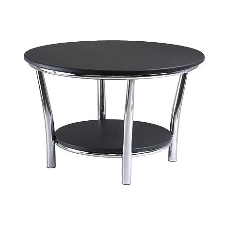 Maya Coffee Table.Winsome Wood 93230 Maya Occasional Table Black Metal