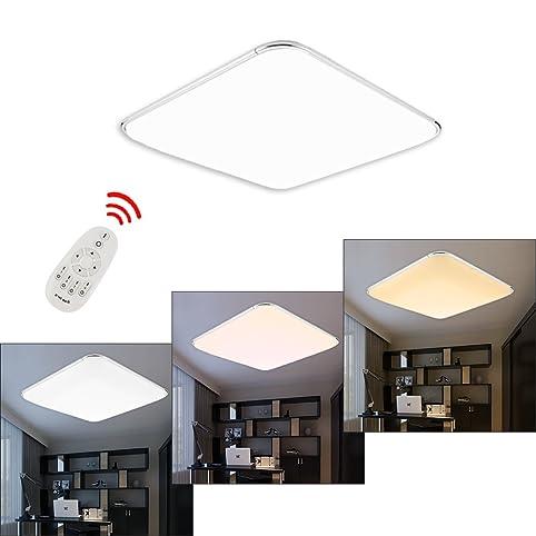 HG® 64W LED Deckenleuchte IP44 Badezimmer geeignet Leuchte Flur ...