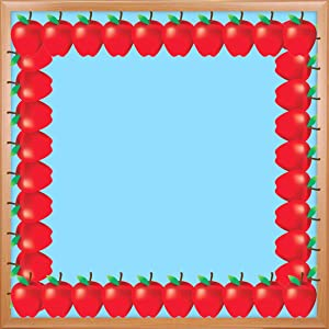 Hygloss Products Red Apples Die-Cut Bulletin Board Border – Classroom Decoration – 3 x 36 Inch, 12 Pack
