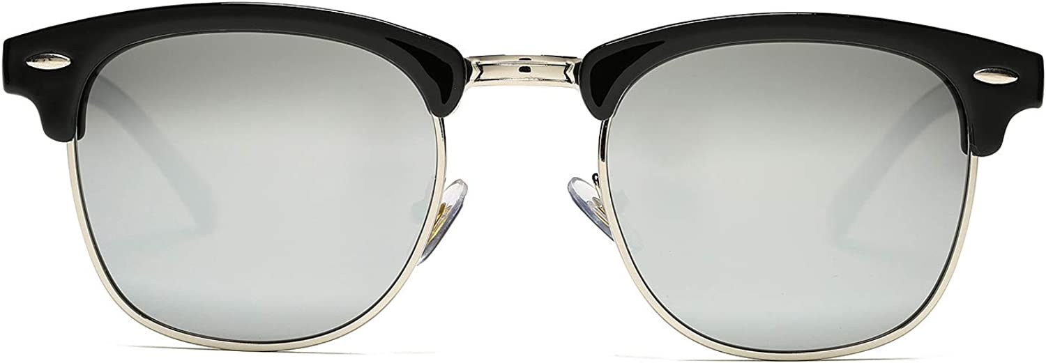 Pro Acme Classic Semi Rimless Polarized Sunglasses with Metal Rivets