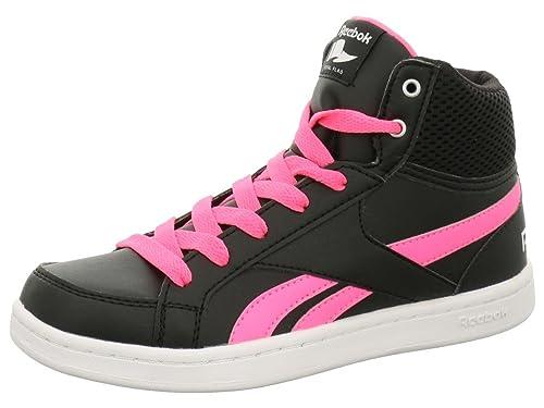 Reebok Niña Baloncesto tamaño 31 Black/Poison Pink/White: Amazon.es: Zapatos y complementos