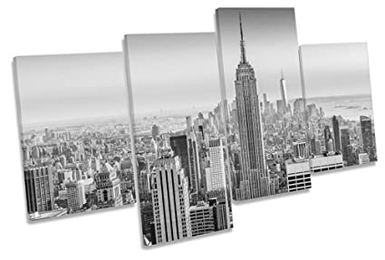 Amazon.com: Canvas Geeks - New York City Empire States Building B&W ...