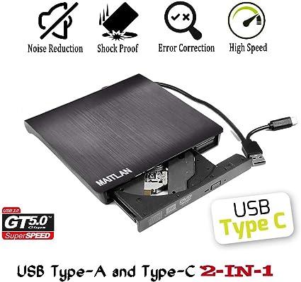 USB 2.0 External CD//DVD Drive for Acer Aspire 5551-n332g16mn